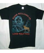 1990 Hugger Hank Williams Jr Sz L Lone Lupo Concerto Tour T Camicia Sche... - $41.85