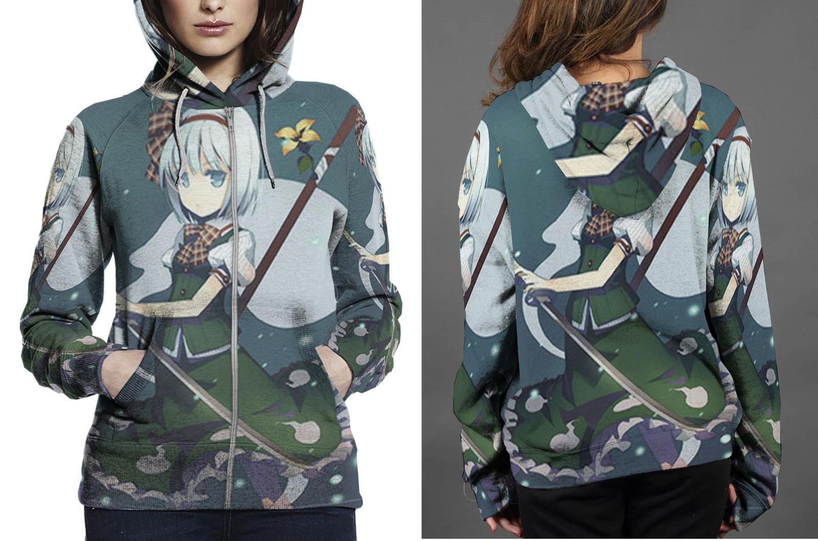 Konpaku zipper hoodie women s
