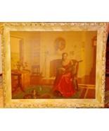 """L""""Musical Interlude"""" By Jacob Richard   SIGNED FRAMED Vintage  PRINT Tre... - $148.50"""