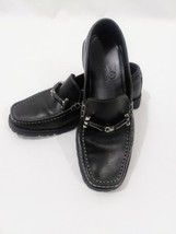 Cole Haan Womens Black LoafersSilver Horse Bit Size 6.5B - $49.49