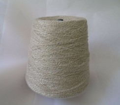 Tan White Thread Large Industrial Cone Spool Blend  - $24.74