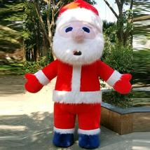 Christmas Inflatable Santa Claus Mascot Costume Saint Nick Suits Cosplay Plush P image 4