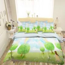 3D Green Tree Rainbow 2 Bed Pillowcases Quilt Duvet Single Queen King US Lemon - $102.84+