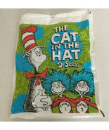 The cat in the hat Dr. Seuss thing 1 thing 2 plastic draw string bag boo... - $19.75