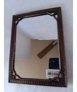 "Hollywood Regency Look Art Deco Bronze Tone Vanity Mirror 4 1/2"" x 6 1/2"" - $22.27"