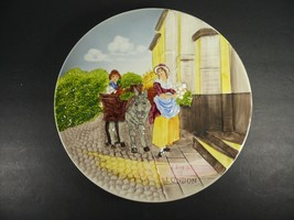 """Vintage CRIES OF LONDON 12½"""" Wall Hanging German Pottery Relief Plate - $14.40"""