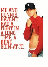 Marky Mark Wahlberg teen magazine pinup clipping shirtless Calvin Klein red