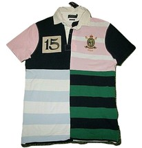 Polo Ralph Lauren Men's Custom Slim Fit Knit Patchwork Rugby JERSEY Shirt #15 - $69.99