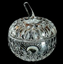 1 (One) GORHAM ALTHEA Lead Crystal Apple Trinket Box LARGE Made in Germany - $17.91