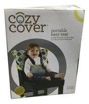Cozy Cover Easy Seat Portable High Chair (Charcoal w/Yellow) - Quick, Easy - $23.28