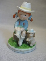 Figurine Genuine Porcelain Jenny Mae Buckaroos  Napco Design By Jim Skinner - $9.95