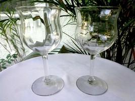 Set of 2 Morgantown Laurette Pattern Clear Wine Glasses - $24.74
