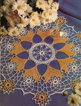 Ovalissimo Oval Table Top Mat Winsome Scrolls Golden Palms Doily Crochet Pattern image 2