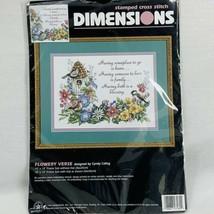 Dimensions Stamped Cross Stitch Kit 3160 Flowery Verse Cyndy Callog 1996... - $15.17