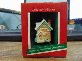 1989 Hallmark Miniature Ornament 2nd in Old English Village Sweets Shop - $7.91