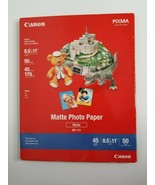 "Canon Pixma Matte Inkjet Photo Paper 50 Sheets 8.5"" x 11""  - $11.99"