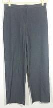 Dressbarn Womens Pants Size 12 Gray Straight Career Evening Trousers Slacks - $9.99
