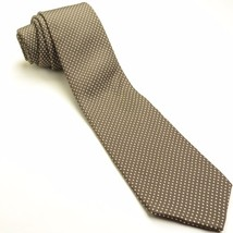 Vintage Polka Dot Brown Cream Tie | Oleg Cassini Necktie - $69.29