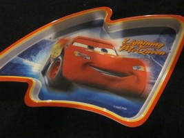 WDW DISNEY CARS LIGHTNING McQUEEN MEAL TIME MAGIC PLASTIC PLATE BRAND NEW - $9.99