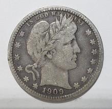 1909D  Barber Quarter 25¢ Silver Liberty Head Coin Lot# 818-6