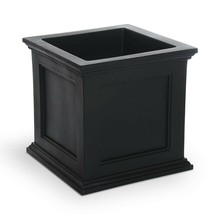 Mayne Square Planter 20 in. Plastic Sub-Irrigation Drainage Hole Self-Wa... - $82.99