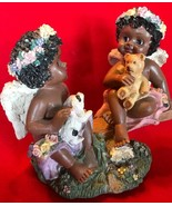 Musical Sweet Black Angel Baby Girls Plays Whistle While You Work Very H... - $29.99