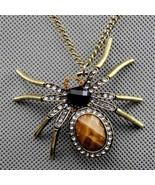Hot Deal Retro Punk Spider Necklace Crystal Fashion PersonalizedSweater ... - $8.01
