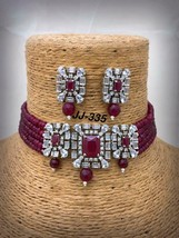 Cz Traditional Indian Bollywood Ethnic Partywear Fashion Choker Necklace... - $113.60