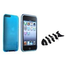 BLUE CRYSTAL SOFT GEL Case For iPod TOUCH 2G 2nd 3G 3rd Gen New+Fishbone... - $9.98