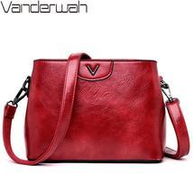 Leather Luxury Handbags Vintage Solid Ladies Handbags - $41.98