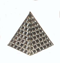 pyramid silver Metal Badge Lapel /tie Pin Badge 3d effect with clip