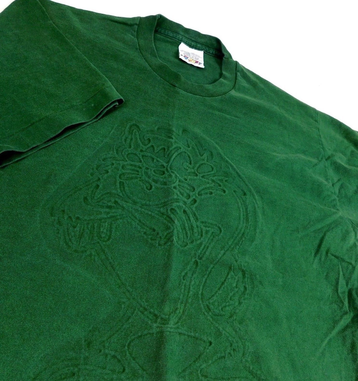 Primary image for Vtg 1994 Looney Tunes Tazmanian Devil Green T Shirt Taz Sz M USA Raised Graphics