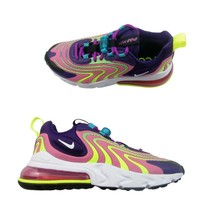 Nike Air Max 270 React Women's Size 7 Shoes ENG Eggplant Flamingo NEW CK... - $99.00