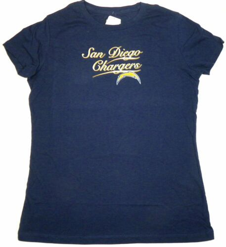 NFL San Diego Chargers Shirt Junior Women's Football Tee Script Graphic T-Shirt