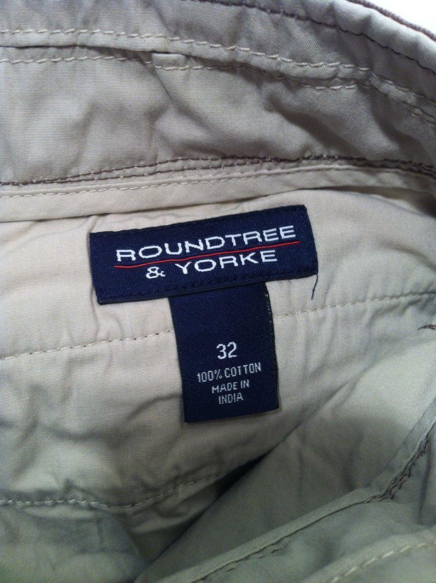 ROUNDTREE & YORKE MENS SHORTS---SIZE 32---BROWN----SHIPS FREE--EUC