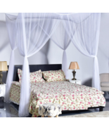 Bed Canopy Mosquito Netting Full Queen King Princess Bedding Post Curtai... - $29.97