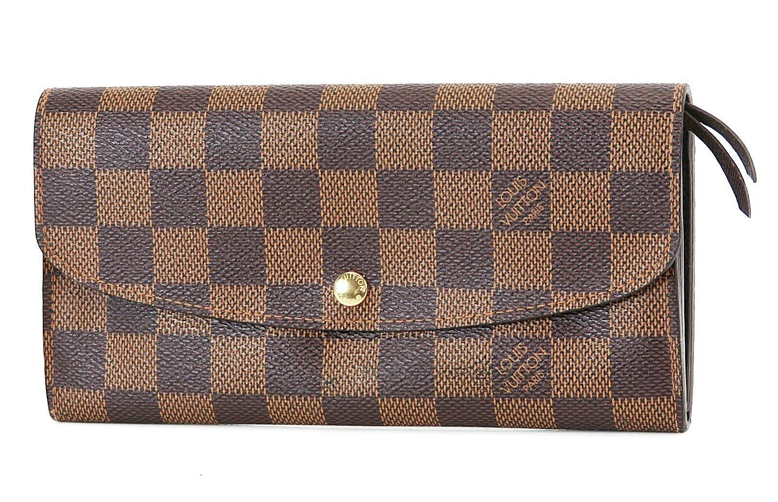 Primary image for Auth LOUIS VUITTON Emilie Long Wallet Damier Ebene Zippered Coin Purse #36822