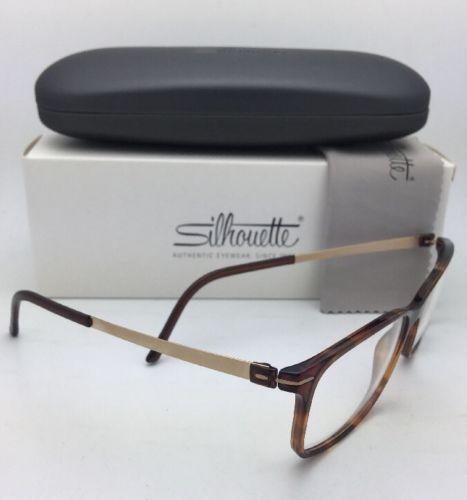 New SILHOUETTE Eyeglasses SPX 2905 75 6120 53-15 135 Matte Gold & Tortoise Frame