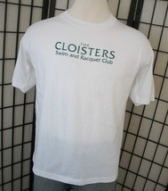 Cloisters Swim and Racquet Club Screen Stars 50/50 white adult tee shirt xl USA - $18.95