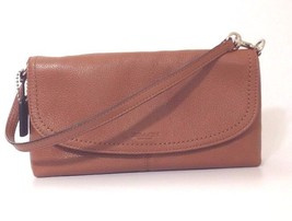 Coach Small Shoulder Clutch Bag Colour Dark Tan Leather Small Handbag RR... - $132.63