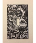 Girl Day Of The Dead Light Switch Plate Cover Wall decor Sugar Skull Gif... - $8.24