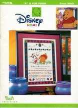 """""""P"""" Is For Pooh Disney Home Cross Stitch Leaflet 3089 Pooh Collection Qu... - $19.95"""