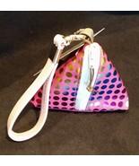 Pyramid Bag/Wristlet/Gift Bag - Fuschia Pink Hologram/Holographic polka ... - $19.95