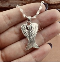 925 Sterling Silver Wings Pendant Necklace for Men and Women [PEN-21] - $15.84