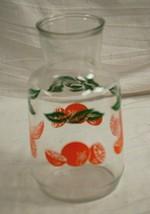 Anchor Hocking Orange Juice Glass Container Jug Pitcher Carafe Oranges V... - $24.74