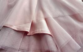 A-line Long Tulle Skirt Pink Long Tulle Skirt Wedding Tulle Skirt image 7