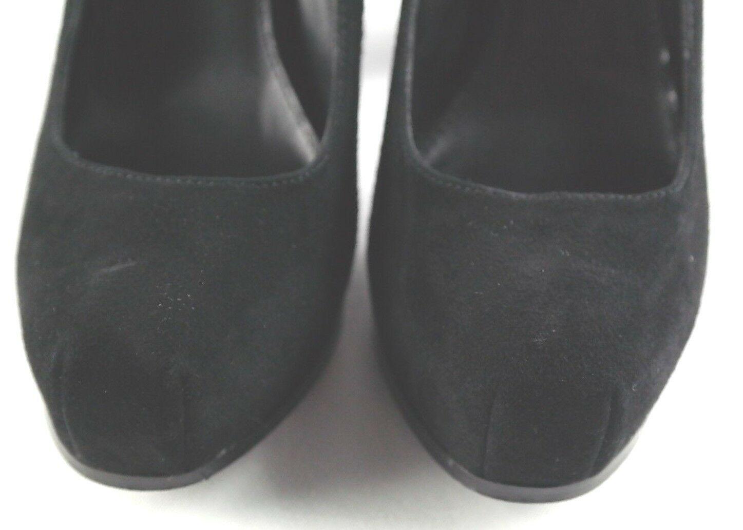 Steve Madden Sarrina Platform Pumps Womens Sz 7.5 Black Suede High Heel Shoes image 10