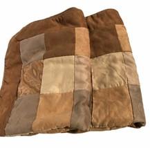 """Croscill Home Patchwork Pillow Shams Standard 27"""" x 21""""  Lot of 2  - $19.79"""