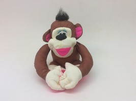 "Fisher Price Puffalump Monkey Chattering Chimps Brown Pink Plush 11"" Toy... - $17.81"