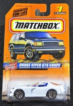 1998  Matchbox    White Dodge Viper GTS Coupe   Card  #1   MB-6 - $2.50